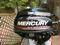 OUTBOARD ENGINE ,NEW STILL TO BE RUN IN MERCURY 3.5 S/S 17 INCHES