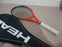 2x head tennis racket+ tennis bag+free overgrip