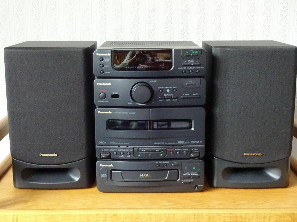 panasonic sa ch32 stereo system cd twin cassette fm am radio good condition price reduced. Black Bedroom Furniture Sets. Home Design Ideas