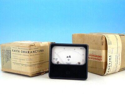 Vintage Unitra Analog Panel Micro Ampere Meter System Dc 0-60ua Ammeter Gauge N