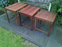 1960s Rosewood Nest of Tables by Toften Mobelfabrikken/Danish