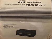 JVC TD-W10 stereo double cassette deck