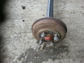 Axle for 4 foot trailer