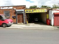 garage and offices in Prescot, L34 5RS, flexible terms for the right business, can split