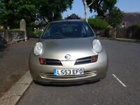 NISSAN MICRA 998CC OCT-2003 MANUAL WITH FULL SERVICE HISTORY 82K MILES