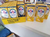 SMA cartons infant milk
