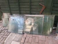 GREENHOUSE GLASS FOR SALE £2.50 PER SHEET OF GLASS, VARIOUS SIZES AVAILABLE