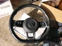 Vw golf mk7 steering wheel and gear knob
