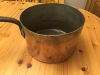 Vintage large Copper Pan Tin Lined