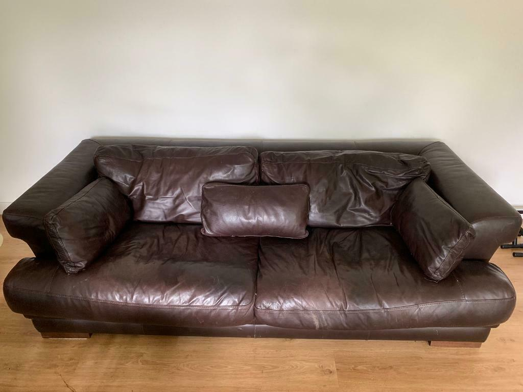 Superb Three Seater Giovanni Sforza Italian Leather Sofa In East London London Gumtree Ocoug Best Dining Table And Chair Ideas Images Ocougorg