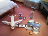 PLAYMOBIL Plane, Airport, Tower, Airport Workers
