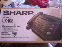 Fax Machine with Telephone – Sharp UX-108