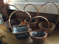 Wicker plant and flower baskets
