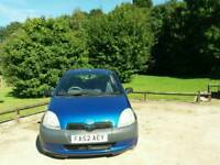 TOYOTA YARIS 1.0L 2003 1 OWNER FROM NEW 10SERVICE'S MOT TILL4/12/2017 HPI CLEAR EXCELLENT CONDITION