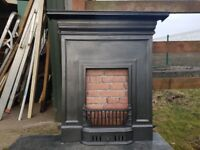 103 Cast Iron Fireplace Fire Surround Combination Antique Victorian Style Old