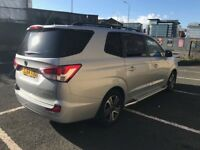 2014 ssangyong turismo diesel automatic, very low mileage