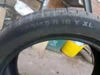 Continental contisport contact ssr tyres 225 45 R18 Y XL run flat 18 inch