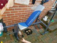 Weights bench with weights and much more!
