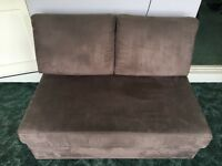 2 seater sofa bed Brown