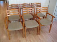 Stylish Set of 6 Retro / Vintage Kitchen / Dining Chairs from the 1960s - Very good clean condition