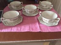 Eternal Beau handled soup bowls