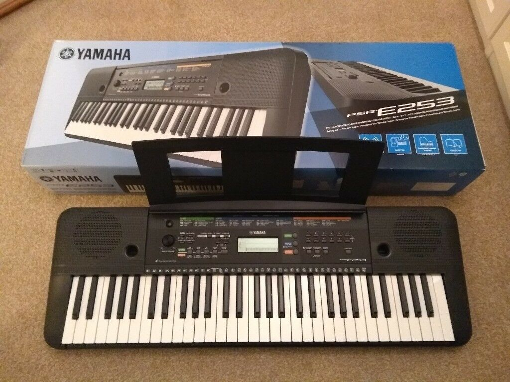 Yamaha Psr E253 Portable Digital Keyboard With Stand In