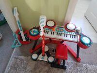 ELC keyboard, Microphone and Guitar