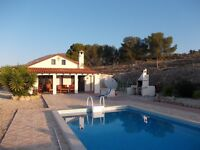 Beautiful Holiday villa with pool Costa Blanca,in the mountains close to Benidorm