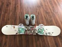 Snowboard , boots and bindings package