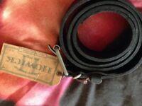Howick Black Leather Belt