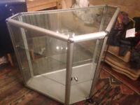 Lockable Corner Glass Display Cabinet