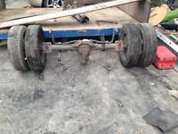 Ford transit twin wheel back axle