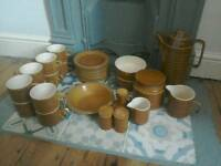 Large collection of Vintage Hornsea Pottery 'Saffron' tableware