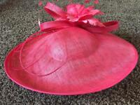 Pink mother of the bride wedding hat
