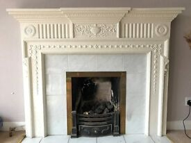 Fireplace surround and Gas Fire