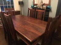 John Lewis Maharani 6 Seater Dining Table and 6 Chairs