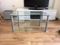 TV AV stand glass excellent condition