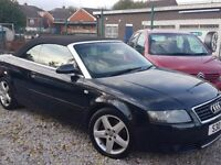2003 AUDI A4 CONVERTIBLE 1.8 TURBO 12 MONTHS MOT 108K LOW MILES - PX WELCOME
