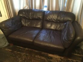 Brown leather sofas 3 seater 2 seater