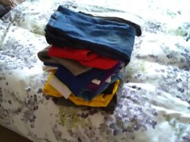 BUNDLE BOYS CLOTHES 3-5 BRAND NAMES SOME WITH TAGS 14 ITEMS