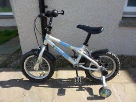 """Dawes Blowfish Kids Bike with 14"""" wheels and stabilisers"""