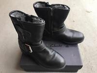 Clarks Reunite GO GTX Goretex UK4 Leather Boots