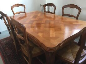 Louis XV French Oak dining table & chairs
