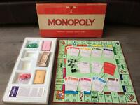 1972 Vintage Monopoly COMPLETE Waddingtons family board game