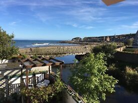 Comfortable, fully furnished 4 bedroom house with sea views in the centre of Stonehaven for rent