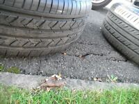 TYRES 215 X 60 X 15 , THREE MATCHING SUPERB TYRES EXCELLENT TREAD,WILL TAKE THEM OFF MY FORD ALLOYS