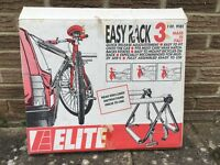 Elite Easy Rack 3 cycle carrier fits most cars, vans, hatchbacks and estates. fully assembled