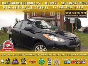 2014 Mazda MAZDA2 GX-0.9%Financing or $2000 Cashback-$0DOWN-Clea