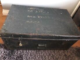 Vintage metal Teignbridge trunk