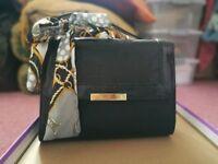 Brand New Black Handbag with Sash
